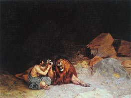 Androcles and the Lion, undated by Gerome | Painting Reproduction