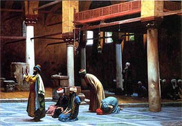 Prayer in a Mosque, 1892 by Gerome | Painting Reproduction