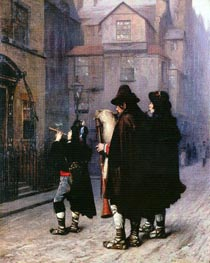 Pifferari in London, 1870 by Gerome | Painting Reproduction