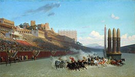 Chariot Race (Circus Maximus), 1876 by Gerome | Painting Reproduction