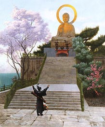 Japanese Imploring a Divinity, undated by Gerome | Painting Reproduction