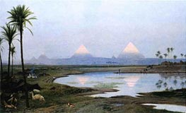 The Pyramids, Sunrise, 1895 by Gerome | Painting Reproduction