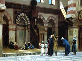 Prayer in the Mosque of Caid Bey in Cairo, 1895 by Gerome | Painting Reproduction