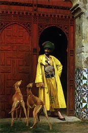 An Arab and His Dogs, 1875 by Gerome | Painting Reproduction