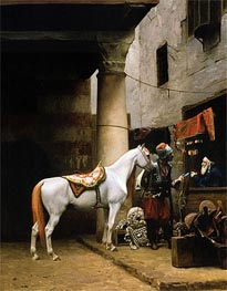 The Saddle Bazaar, Cairo (Arab Purchasing a Bride) | Gerome | Painting Reproduction