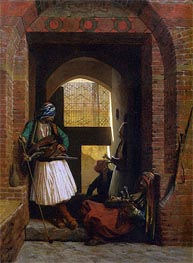 Arnauts of Cairo at the Gate of Bab el Nasr, 1861 by Gerome | Painting Reproduction