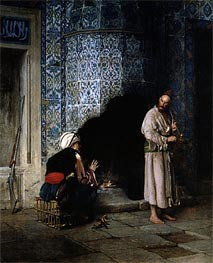 Conversation by the Fire | Gerome | Painting Reproduction