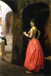 Woman from Cairo Smoking a Cigarette, 1882 von Gerome | Gemälde-Reproduktion