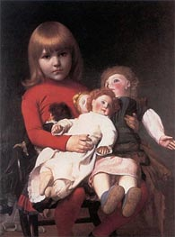 Madeleine Gerome and Her Dolls | Gerome | Painting Reproduction