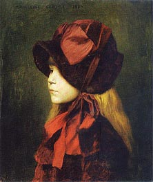 Madeleine Gerome with Hat | Gerome | Painting Reproduction