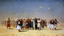 Egyptian Recruits Crossing the Desert, 1857 von Gerome | Gemälde-Reproduktion
