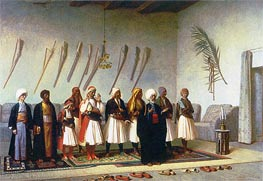 Prayer in the House of an Arnaut Chief, 1857 by Gerome | Painting Reproduction