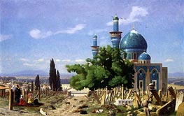 The Green Mosque at Broussa, 1876 von Gerome | Gemälde-Reproduktion