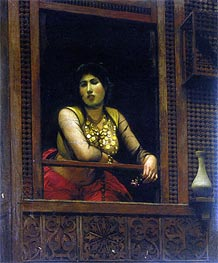 Woman at Her Window, 1888 von Gerome | Gemälde-Reproduktion