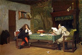 A Collaboration Corneille and Moliere, 1873 by Gerome | Painting Reproduction
