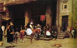 A Street Scene in Cairo, 1871 by Gerome | Painting Reproduction
