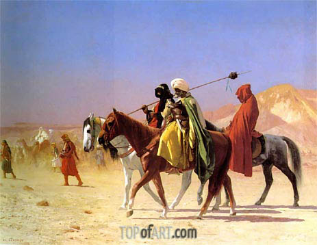 Arabs Crossing the Desert, 1870 | Gerome | Gemälde Reproduktion