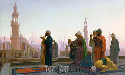 Prayer in Cairo (Prayer on the Rooftops of Cairo), 1865 | Gerome | Gemälde Reproduktion