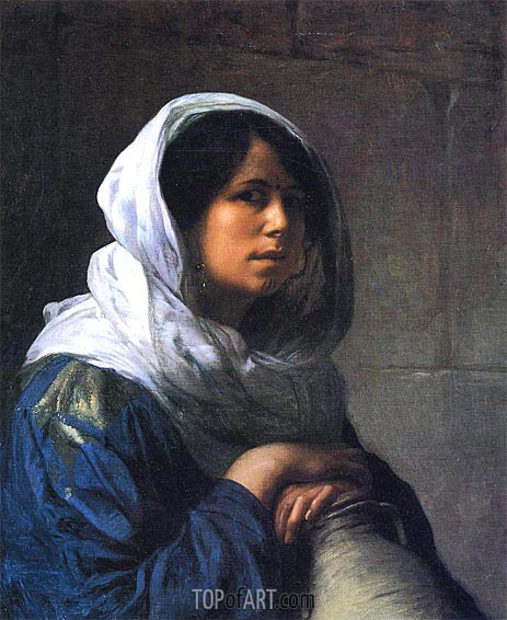 Egyptian Water Carrier, c.1882 | Gerome | Painting Reproduction
