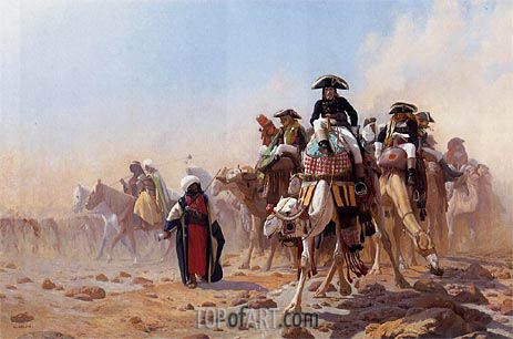 Napoleon and His General Military Staff in Egypt, 1867 | Gerome | Painting Reproduction
