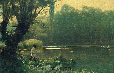 Summer Afternoon on a Lake, c.1895 | Gerome | Gemälde Reproduktion