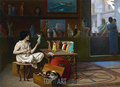 The Antique Pottery Painter: Sculpturæ vitam insufflat pictura, 1893 | Gerome | Painting Reproduction