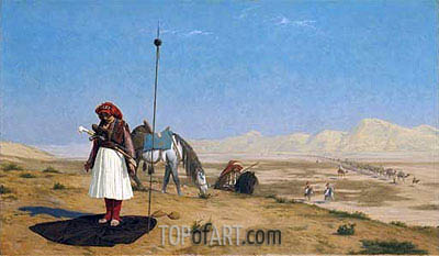 Prayer in the Desert, 1864 | Gerome | Painting Reproduction