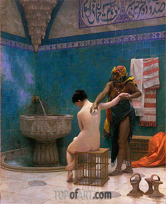 Moorish Bath, c.1880/85 | Gerome | Painting Reproduction