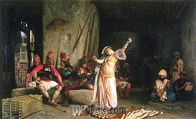 The Dance of the Almeh (The Belly-Dancer), 1863 | Gerome | Painting Reproduction