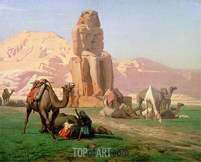 The Colossus of Memnon, 1857 | Gerome | Painting Reproduction