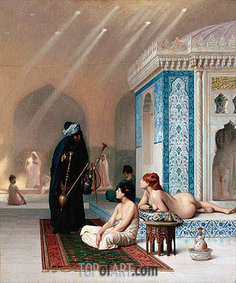 Pool in a Harem, c.1876 | Gerome | Gemälde Reproduktion