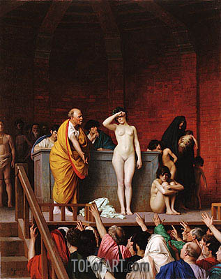 Slave Market in Ancient Rome, c.1884 | Gerome | Painting Reproduction