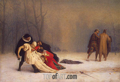 Duel after a Masked Ball, 1857 | Gerome | Painting Reproduction