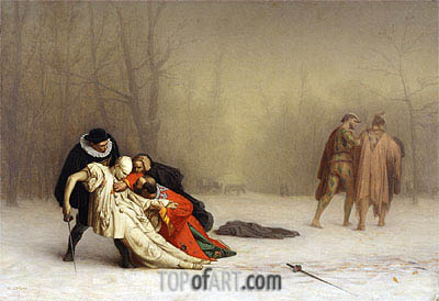 The Duel After the Masquerade, c.1857/59 | Gerome | Painting Reproduction