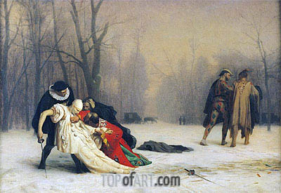 At the End of the Masked Ball, 1867 | Gerome | Painting Reproduction
