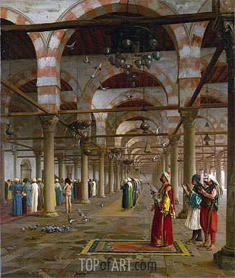 Prayer in the Mosque, 1871 | Gerome | Painting Reproduction