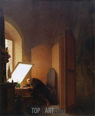 Rembrandt Etching a Plate in His Atelier, 1861 | Gerome | Painting Reproduction