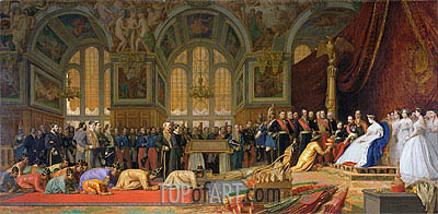 The Reception of Siamese Ambassadors by Emperor Napoleon III at the Palace of Fontainebleau, 1861 | Gerome | Gemälde Reproduktion