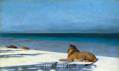 Solitude, 1890 | Gerome | Painting Reproduction