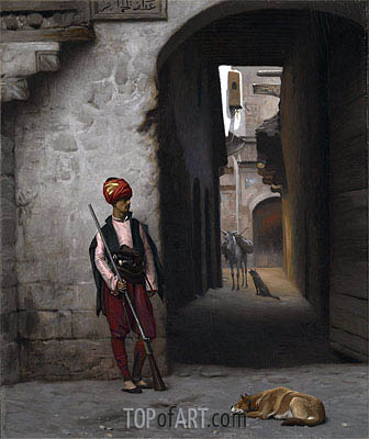 The Guard, 1889 | Gerome | Painting Reproduction