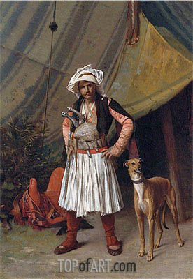 A Bashi-Bazouk and His Dog, undated | Gerome | Painting Reproduction