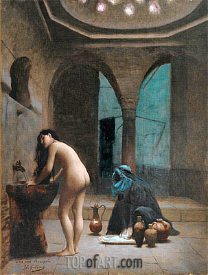 Moorish Bath (Turkish Woman Bathing), c.1870 | Gerome | Painting Reproduction