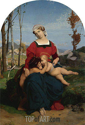 The Virgin and Child with Saint John the Baptist, 1848   Gerome   Painting Reproduction