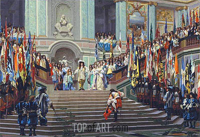 The Reception of the Grand Conde at Versailles, 1878 | Gerome | Gemälde Reproduktion