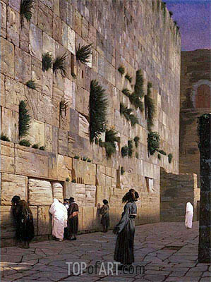 Solomon's Wall Jerusalem (The Wailing Wall), undated | Gerome | Painting Reproduction