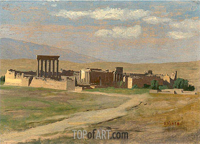 View of Baalbek, undated | Gerome | Gemälde Reproduktion