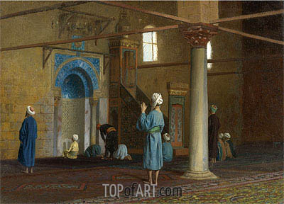 Prayer in the Mosque, undated | Gerome | Painting Reproduction