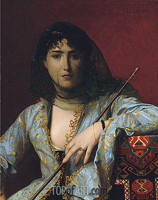 Veiled Circassian Beauty, 1876 | Gerome | Painting Reproduction