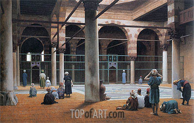 Interior of a Mosque, c.1890/99 | Gerome | Painting Reproduction