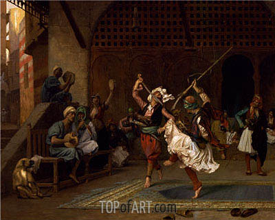 The Pyrrhic Dance, 1885 | Gerome | Painting Reproduction